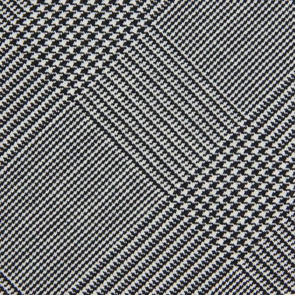 Glencheck Bespoke Wool Tie - Grey