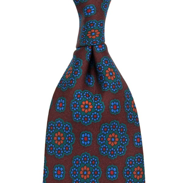 Ancient Madder Silk Tie - Brown III - Handrolled