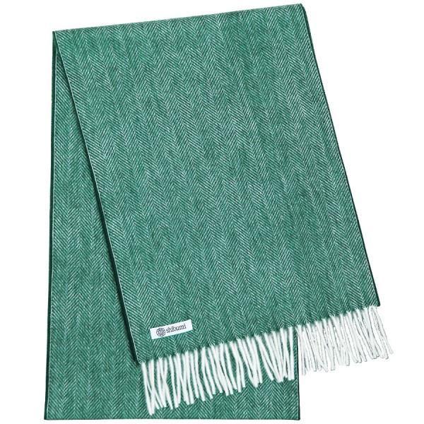 Cashmere Scarf - Sea Green - Herringbone