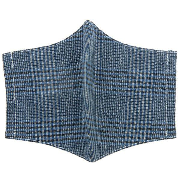 Glencheck Washable Cotton Mask - Blue