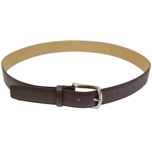 Scuola del Cuoio x Shibumi Boxcalf Leather Belt - Dark Brown