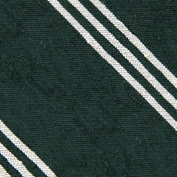 Triple Stripe Shantung Bespoke Tie - Forest Green