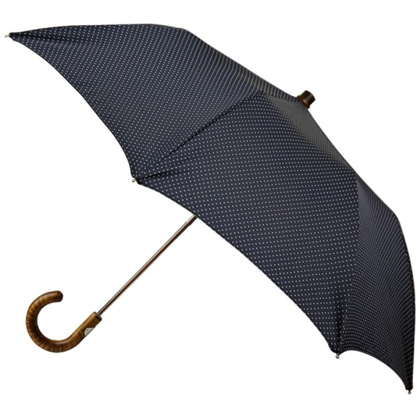 Navy Dotted Travel Umbrella - Hickory