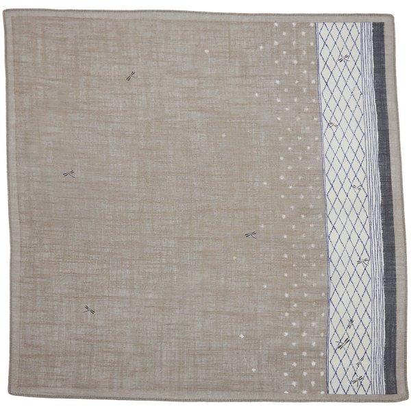 Animal Motif Cotton Handkerchief - Beige