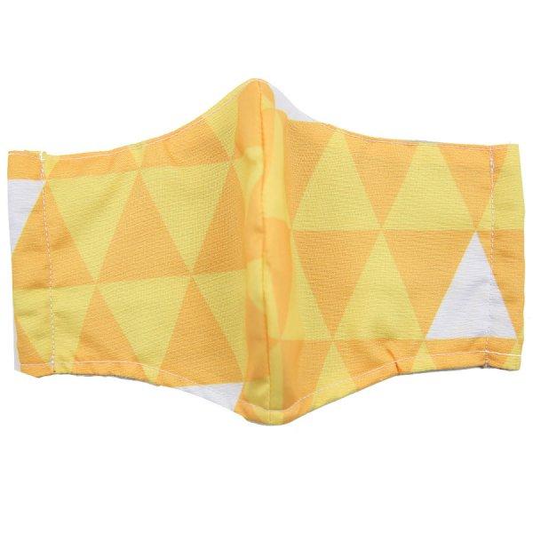 Kimono Pattern Washable Cotton Mask - Yellow