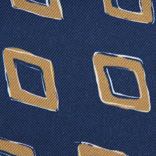 Vintage Printed Silk Bespoke Tie - Navy