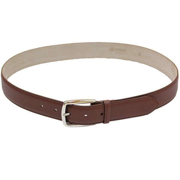 Boxcalf Leather Belt - Brown
