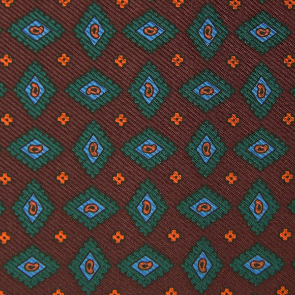 Ancient Madder Silk Bespoke Tie - Brown II