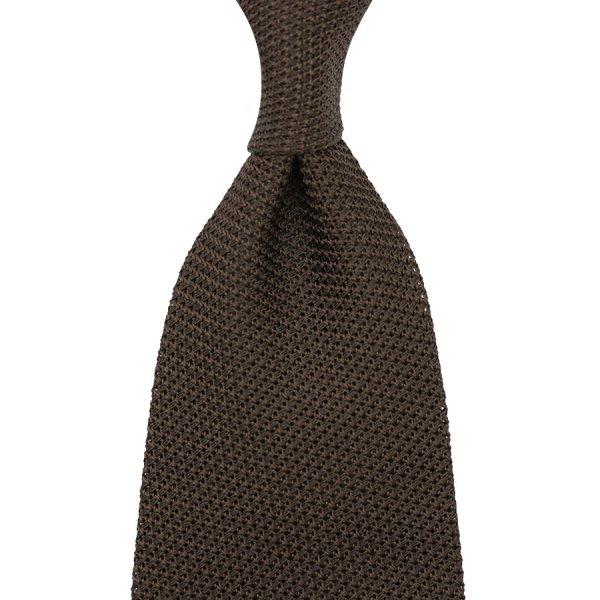 Grenadine / Garza Piccola Tie - Chocolate - Handrolled