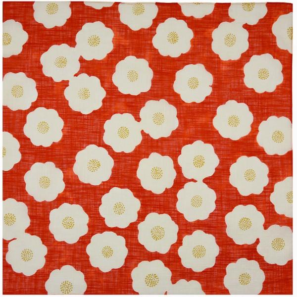 Kimono Motif Cotton Handkerchief - Red