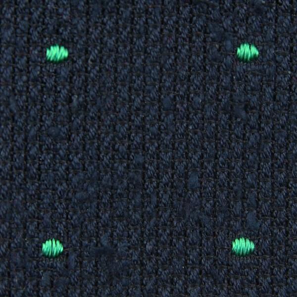 Dotted Shantung Grenadine Bespoke Tie - Navy / Green