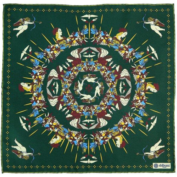 Art Printed Silk Pocket Square - Forest - 40x40cm