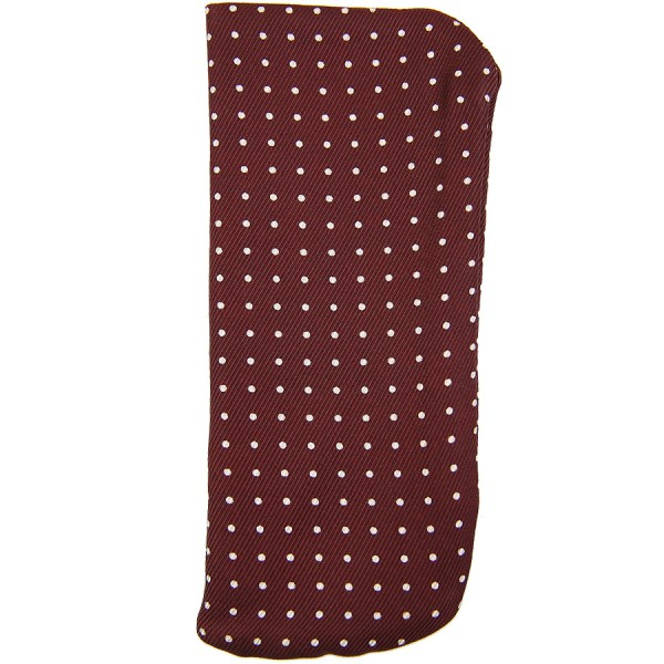 50oz Dotted Printed Silk Glasses Case - Burgundy