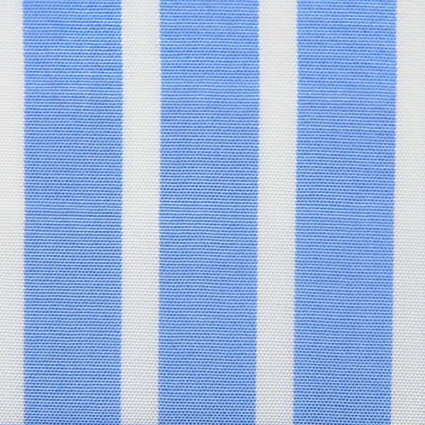 Poplin Made-To-Order Shirt - White / Blue - Reverse Stripe
