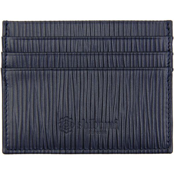Scuola del Cuoio x Shibumi Credit Card Case - Navy - Calfskin