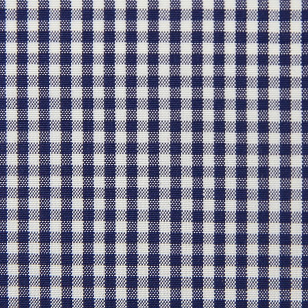Poplin Made-To-Order Shirt - White / Navy - Gingham Small