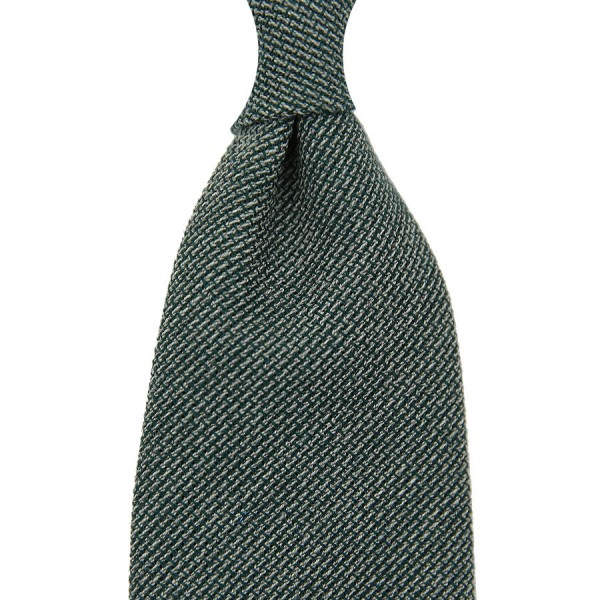 Smith Woollens Hopsack Wool Tie - Green
