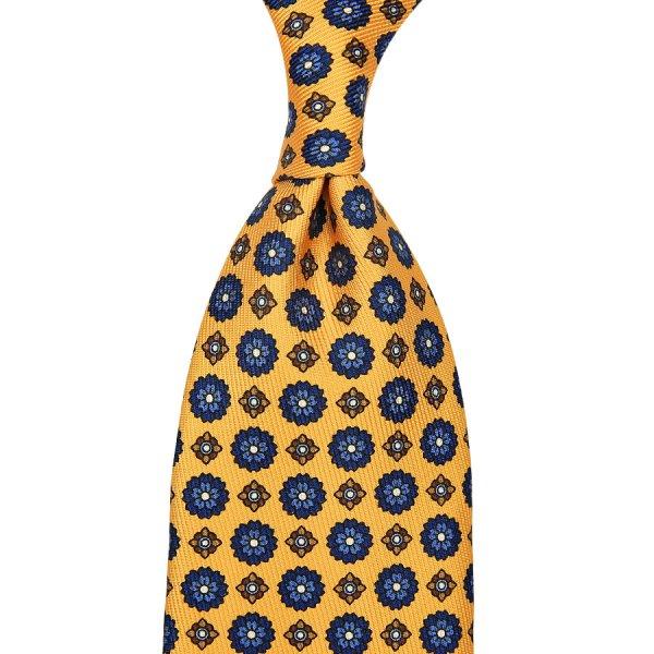 7-Fold 50oz Floral Printed Silk Tie - Melon