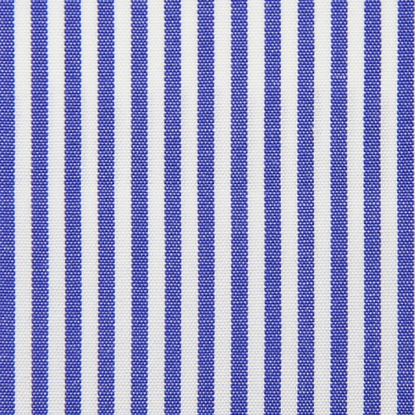 Poplin Made-To-Order Shirt - White / Light Navy - Pencil Stripe
