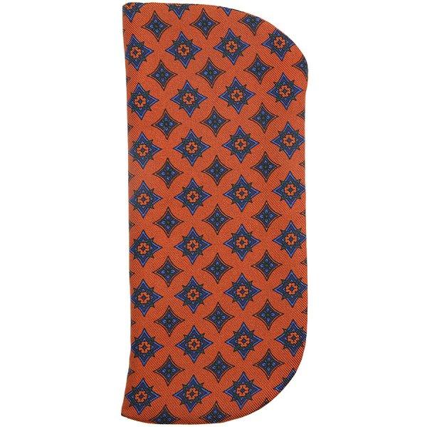 Ancient Madder Silk Glasses Case - Terracotta I