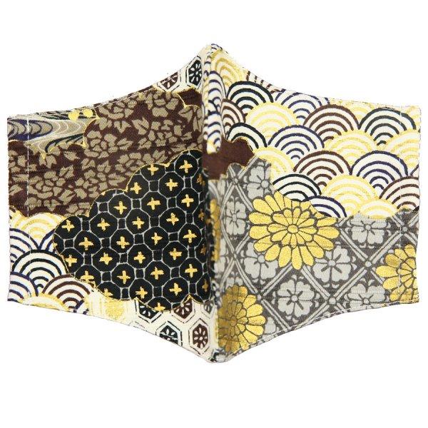 Kimono Motif Washable Cotton Mask - Multicolored III