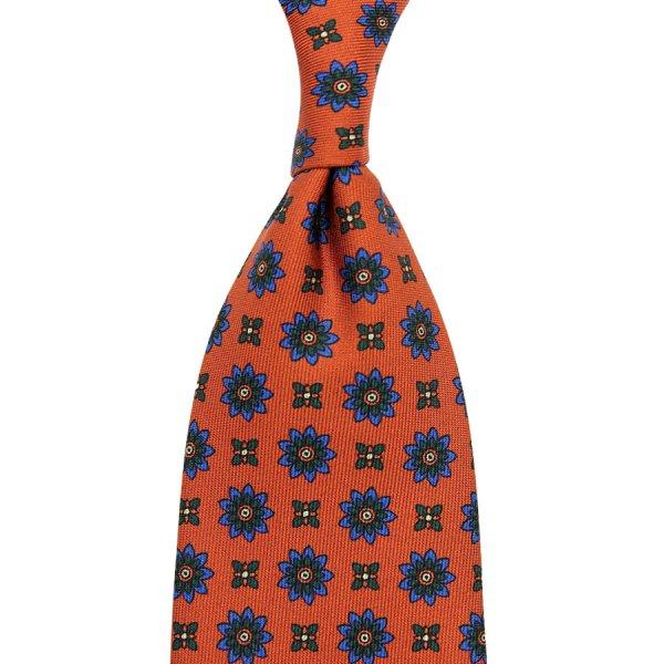Ancient Madder Silk Tie - Terracotta III - Hand-Rolled