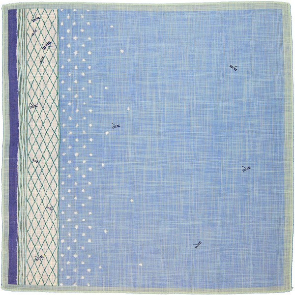 Animal Motif Cotton Handkerchief - Light Blue