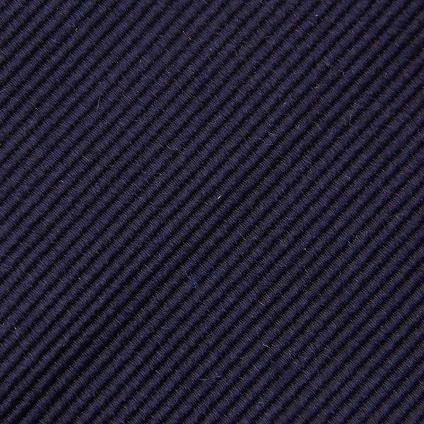 Plain Repp Bespoke Silk Tie - Midnight