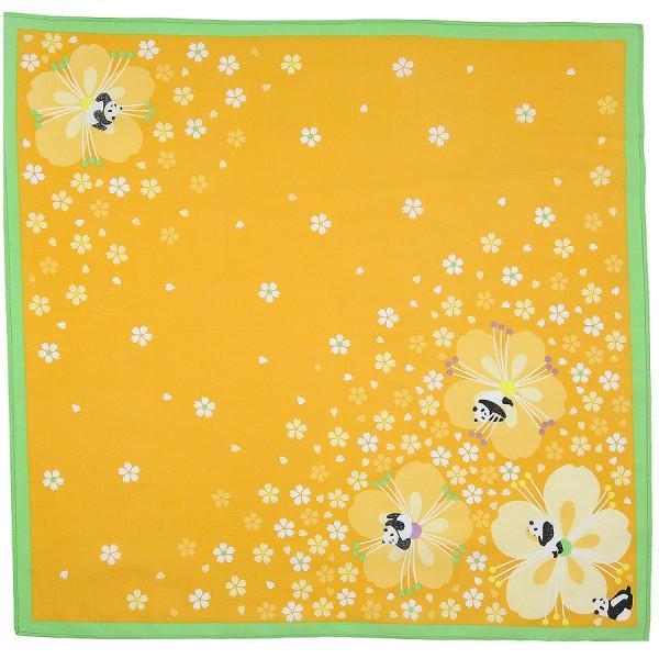 Animal Motif Cotton Handkerchief - Honey