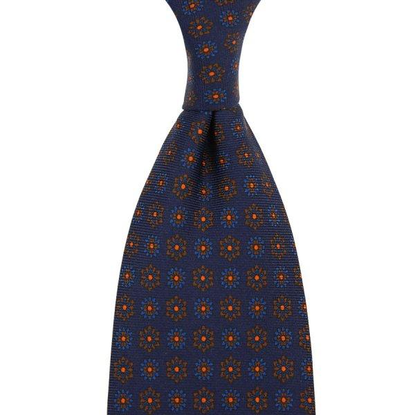 Ancient Madder Silk Tie - Navy IV - Hand-Rolled