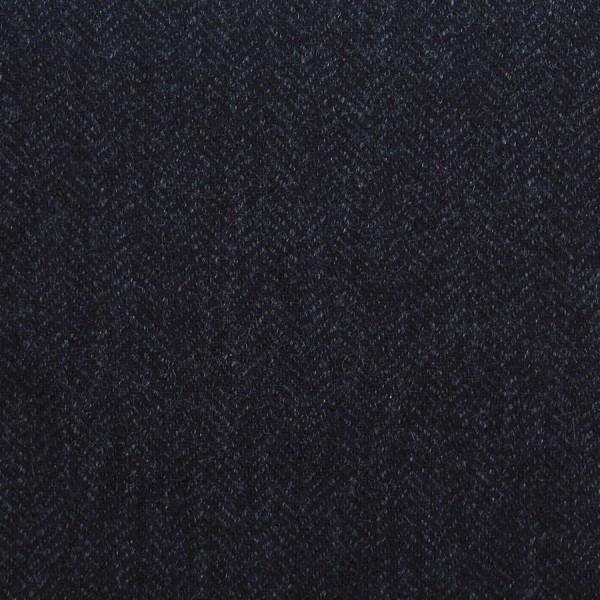 Herringbone Cashmere Bespoke Tie - Charcoal