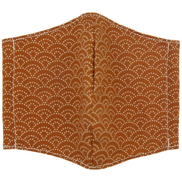 Kimono Motif Washable Cotton Mask - Copper