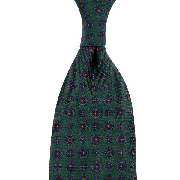 Ancient Madder Silk Tie - Bottle II - Hand-Rolled