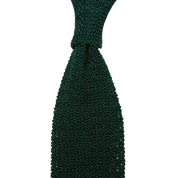 Crunchy Silk Knit Tie - Forest