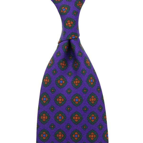 Ancient Madder Silk Tie - Purple - Hand-Rolled