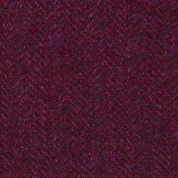 Herringbone Cashmere Bespoke Tie - Burgundy II