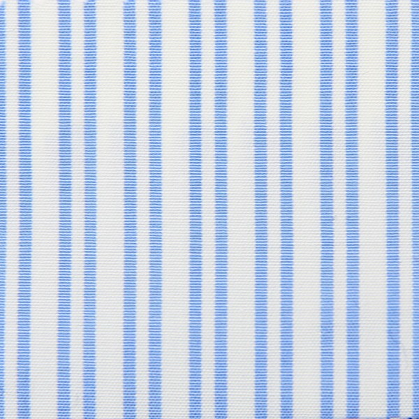 Poplin Made-To-Order Shirt - White / Light Blue - Fantasy Stripe